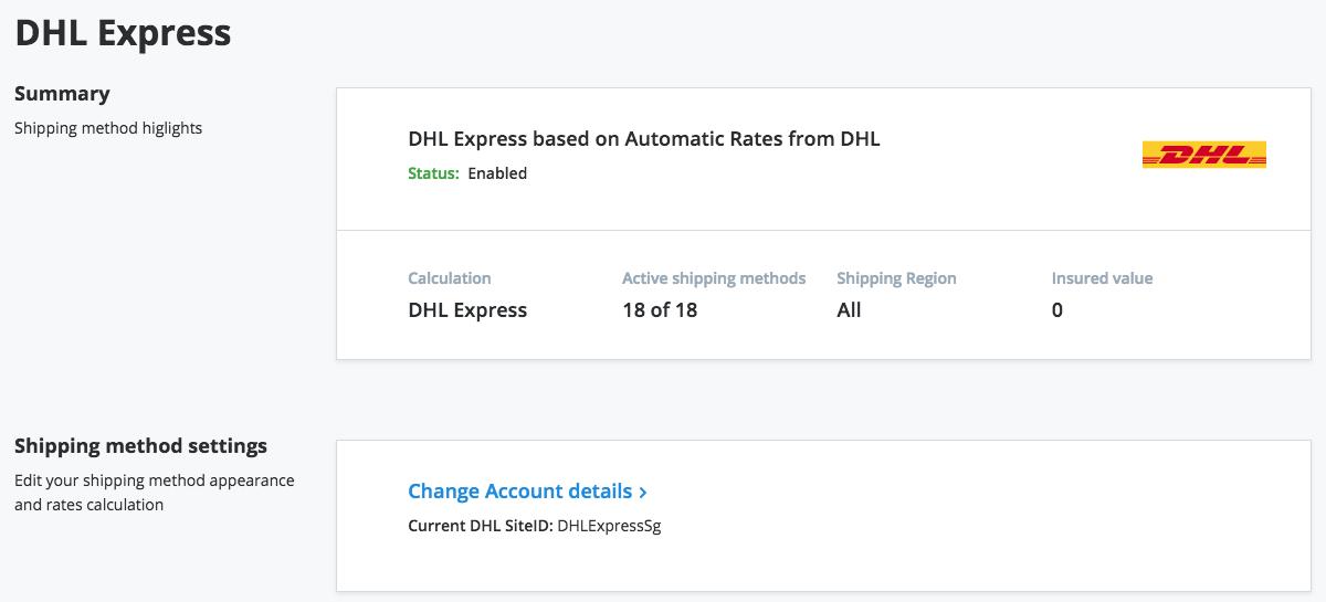 DHL Express Shipping Methods